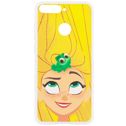 Husa Huawei Y6 Prime 2018 Cu Licenta Disney - Rapunzel and Pascal