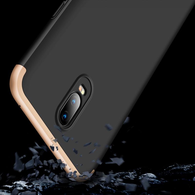Husa OnePlus 6T GKK 360 Full Cover Negru-Auriu