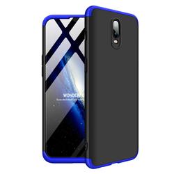 Husa OnePlus 6T GKK 360 Full Cover Negru-Albastru