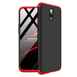 Husa OnePlus 6T GKK 360 Full Cover Negru-Rosu