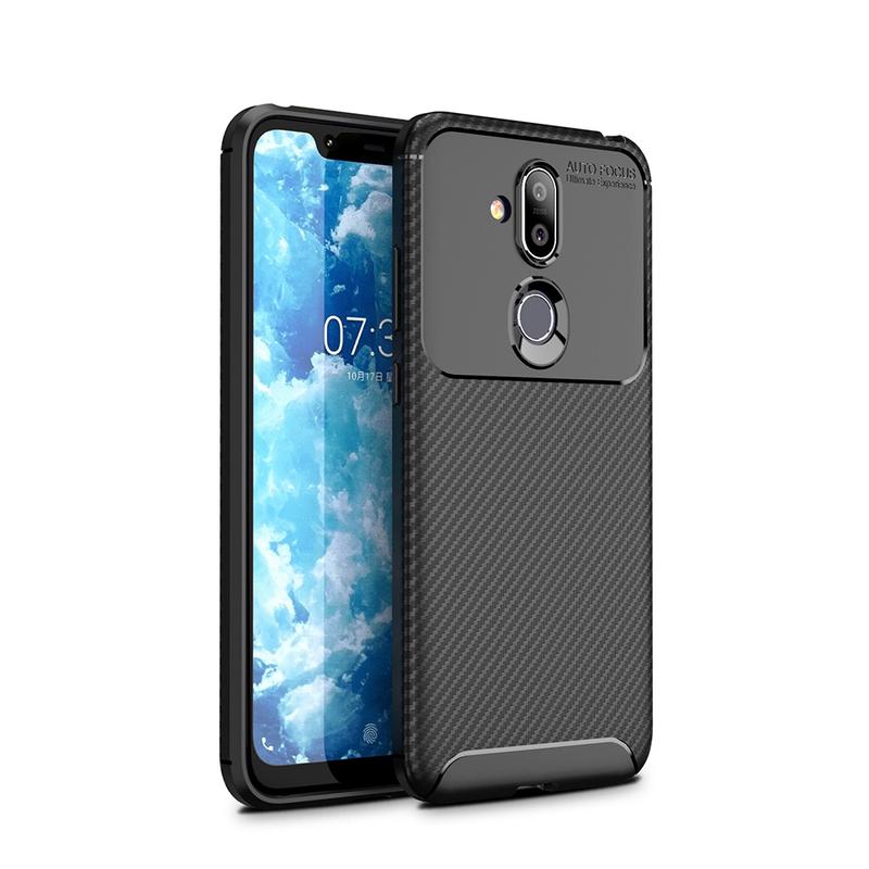 Husa Nokia 7.1 Mobster Carbon Skin Negru