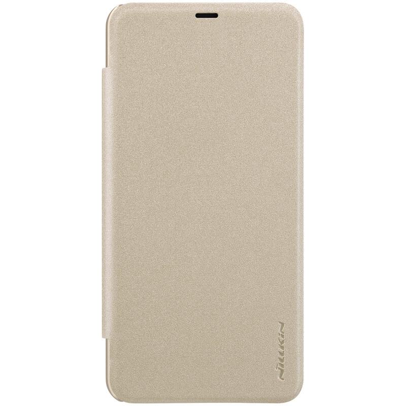 Husa Xiaomi Pocophone F1 NILLKIN Sparkle Flip Auriu