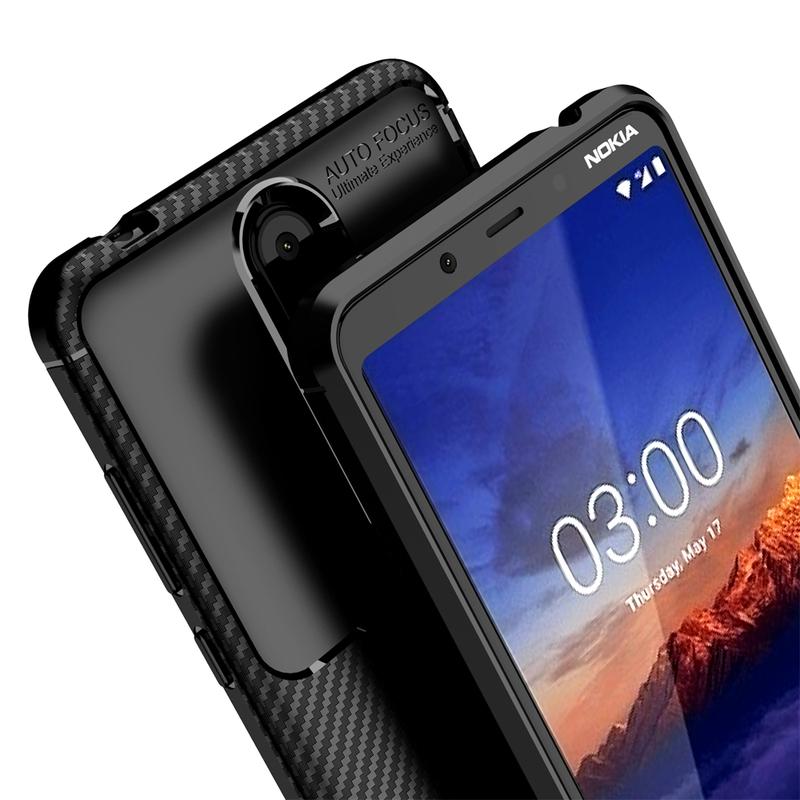 Husa Nokia 3.1 Plus 2018 Mobster Carbon Skin Negru
