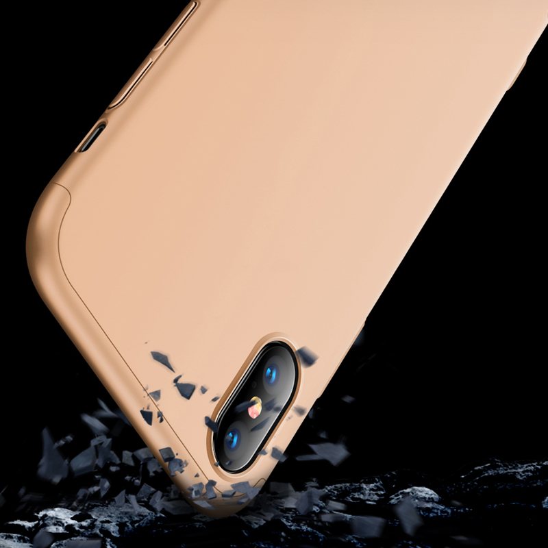 Husa iPhone XS Max GKK 360 Full Cover Auriu