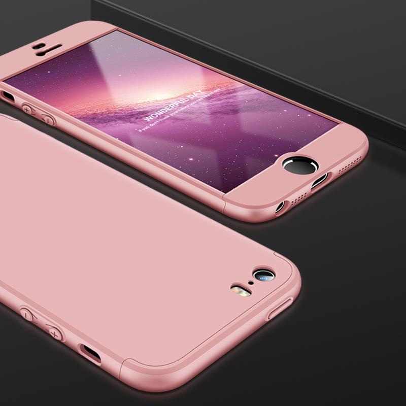 Husa iPhone 5 / 5s / SE GKK 360 Full Cover Roz