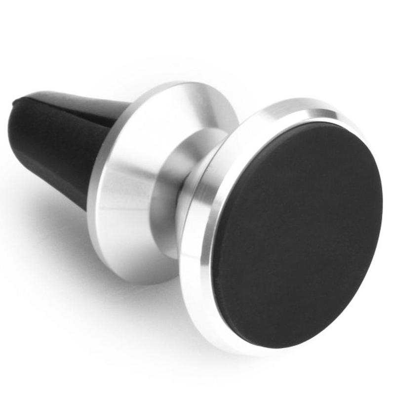 Suport Grila Ventilatie Auto Magnetic Pentru Telefon PT - Argintiu