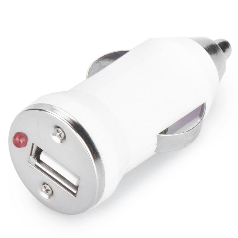 Incarcator Auto Mini Car USB 1.0A - White