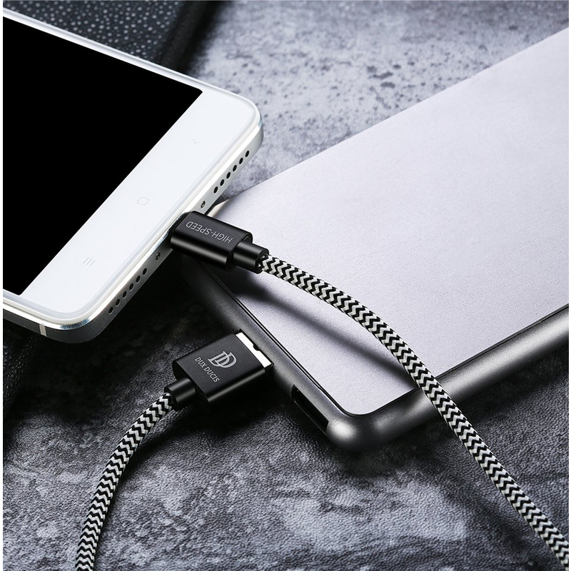 Cablu de date Micro-USB Dux Ducis K-One 100CM 2.4A - Negru