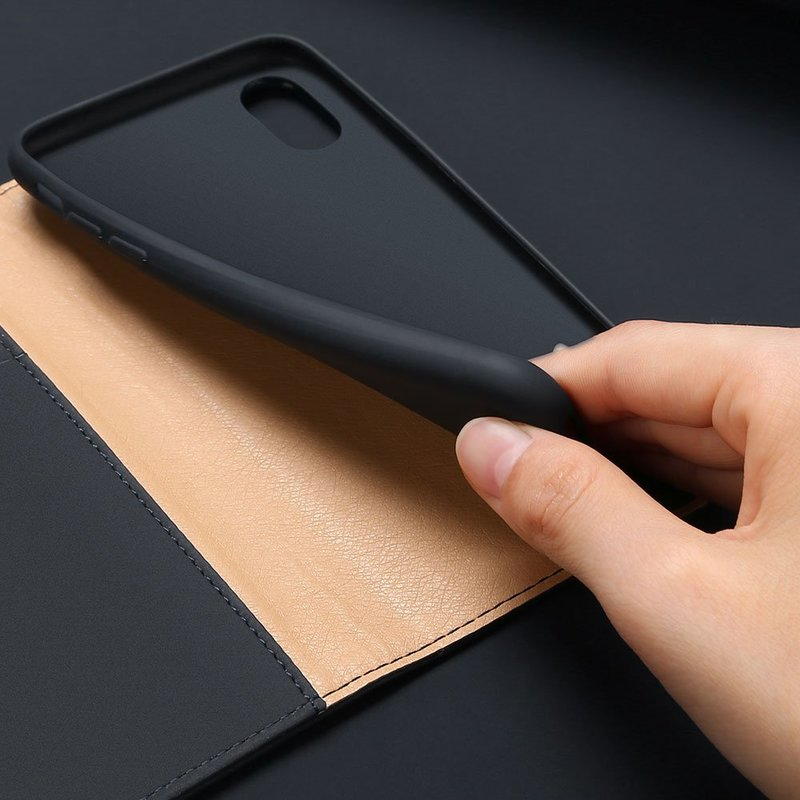 Husa iPhone XS Max Dux Ducis Wish Book - Negru