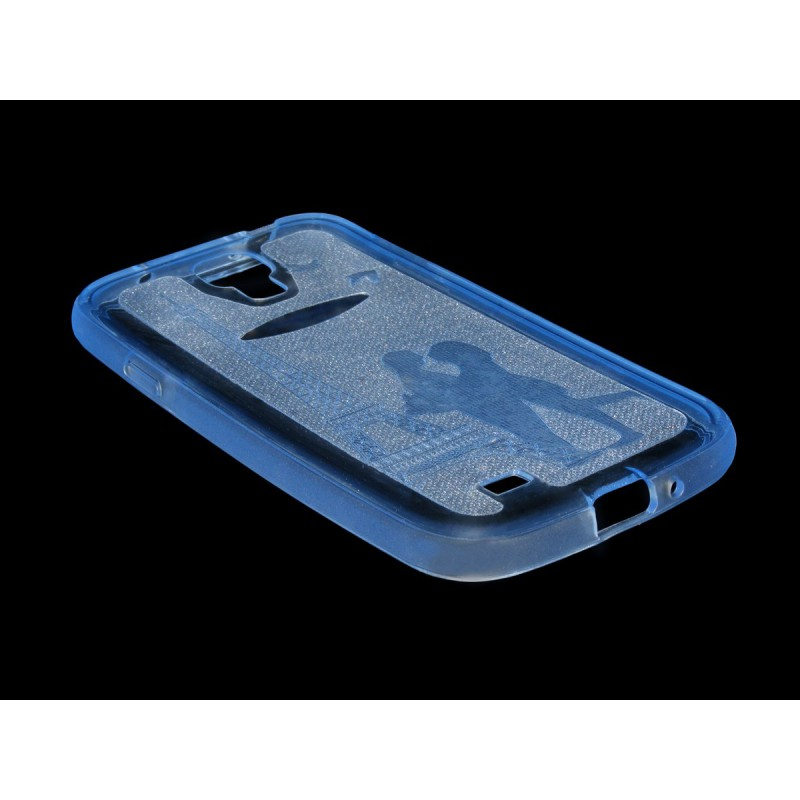 Husa Samsung Galaxy S4 I9500 Silicon Gel TPU Albastru Model 01