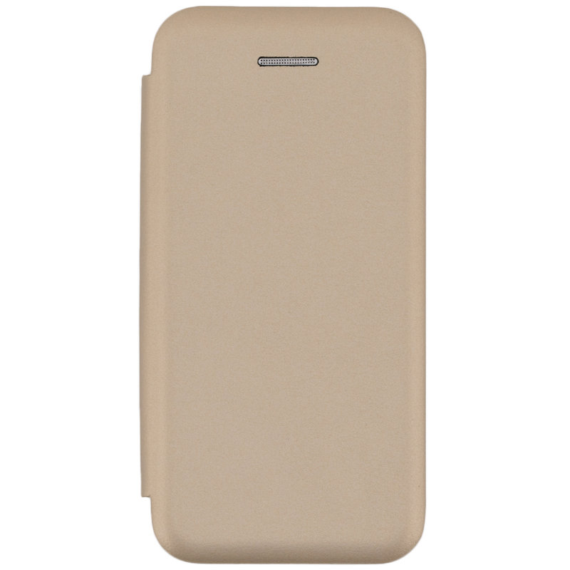 Husa iPhone 5 / 5s / SE Flip Magnet Book Type - Gold