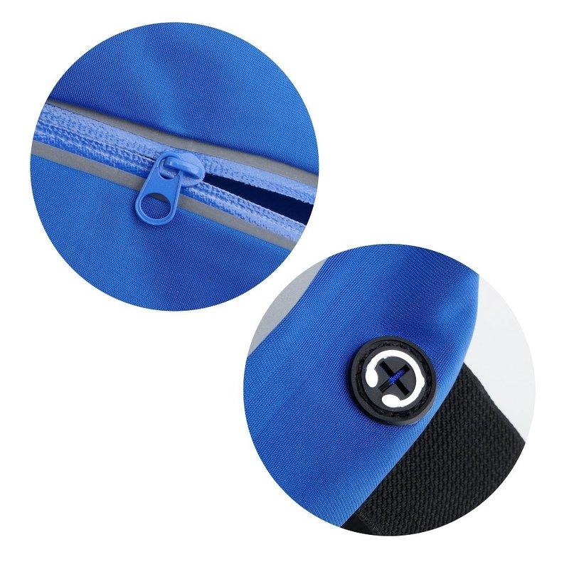 Husa Tip Curea Multi Cu Un Singur Buzunar Transparent 5.5 inch - Albastru