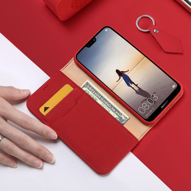 Husa Huawei P20 Lite Dux Ducis Wish Book - Rosu