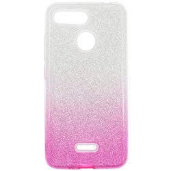 Husa Xiaomi Redmi 6 Gradient Color TPU Sclipici - Roz