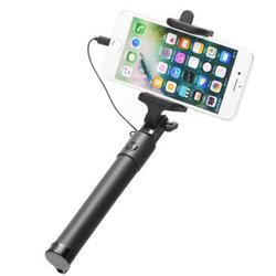 Suport Selfie Stick Conexiune Mufa Lightning Blun - Negru