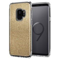 Bumper Spigen Samsung Galaxy S9 Slim Armor Crystal Glitter - Gold Quartz