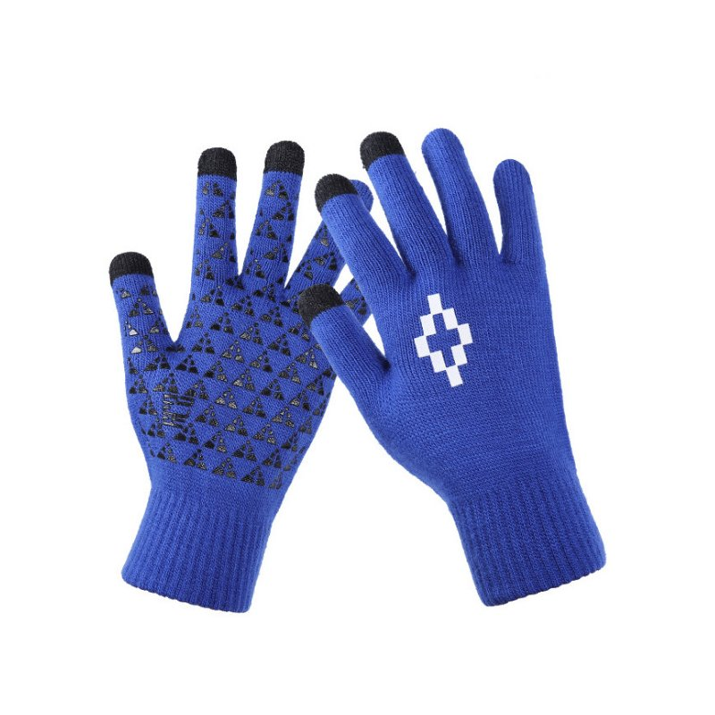 Manusi touchscreen unisex, Acrylic Symbol, acrilic, albastru