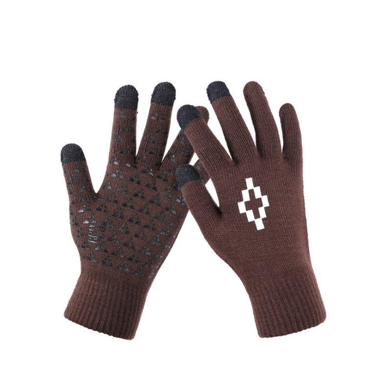 Manusi touchscreen unisex, Acrylic Symbol, acrilic, coffee