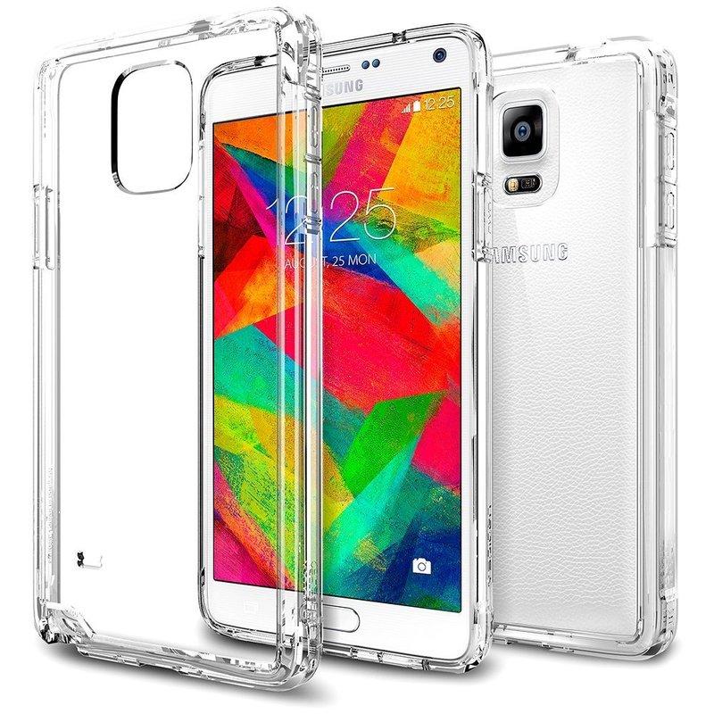 Bumper Spigen Samsung Galaxy Note 4 Ultra Hybrid - Crystal Clear