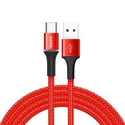 Cablu de date Baseus Halo 2M USB - USB Type-C 2.0A - Rosu CATGH-C09