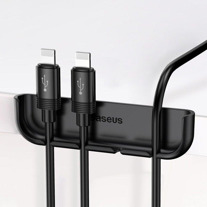 Suport Cabluri Baseus Magic iPhone XS pentru Birou - Negru