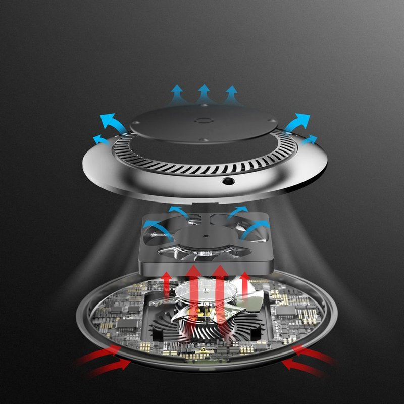 Incarcator Wireless Baseus Cu Ventilator 2.0A - CCALL-XU01 - Negru