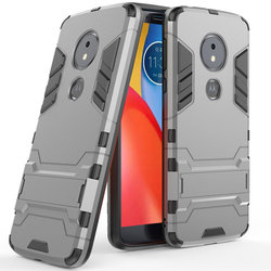 Husa Motorola Moto E5 Plus Mobster Hybrid Stand Shell – Grey