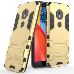 Husa Motorola Moto E5 Plus Mobster Hybrid Stand Shell – Royal Gold