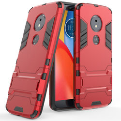 Husa Motorola Moto E5 Plus Mobster Hybrid Stand Shell – Red