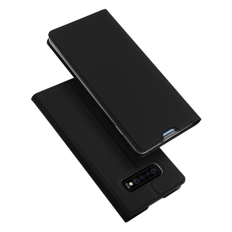 Husa Samsung Galaxy S10 Dux Ducis Flip Stand Book - Negru