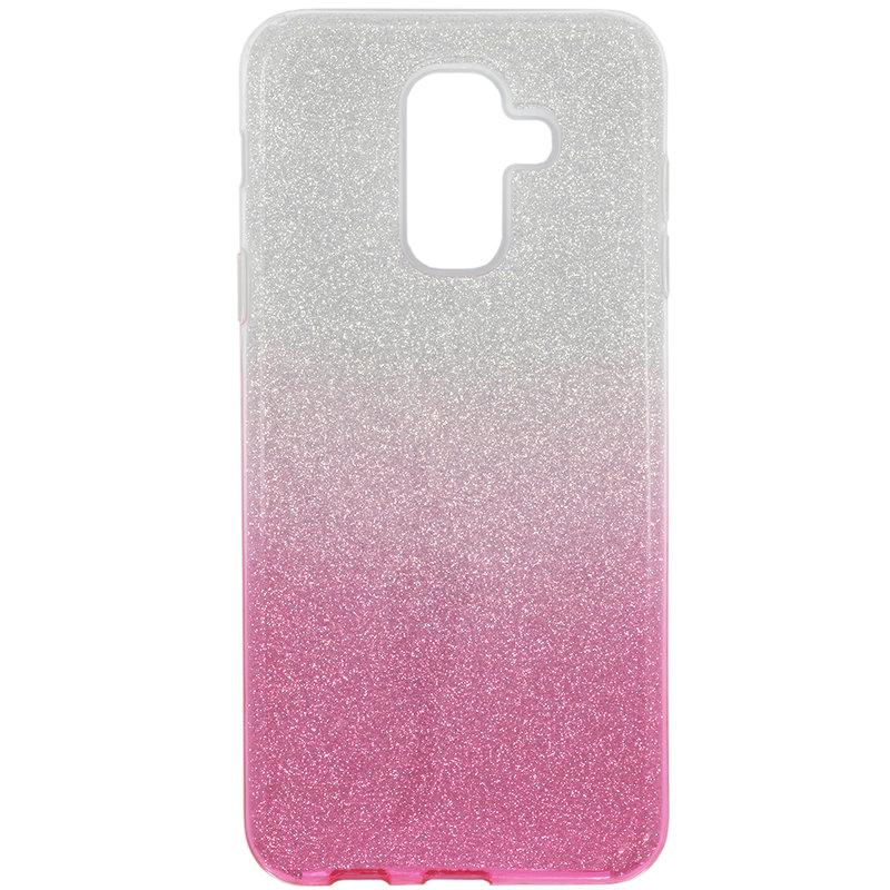 Husa Samsung Galaxy A6 Plus 2018 Gradient Color TPU Sclipici - Roz