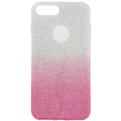 Husa iPhone 7 Plus Gradient Color TPU Sclipici - Roz