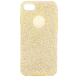 Husa iPhone 8 Color TPU Sclipici - Auriu