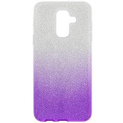 Husa Samsung Galaxy A6 Plus 2018 Gradient Color TPU Sclipici - Mov