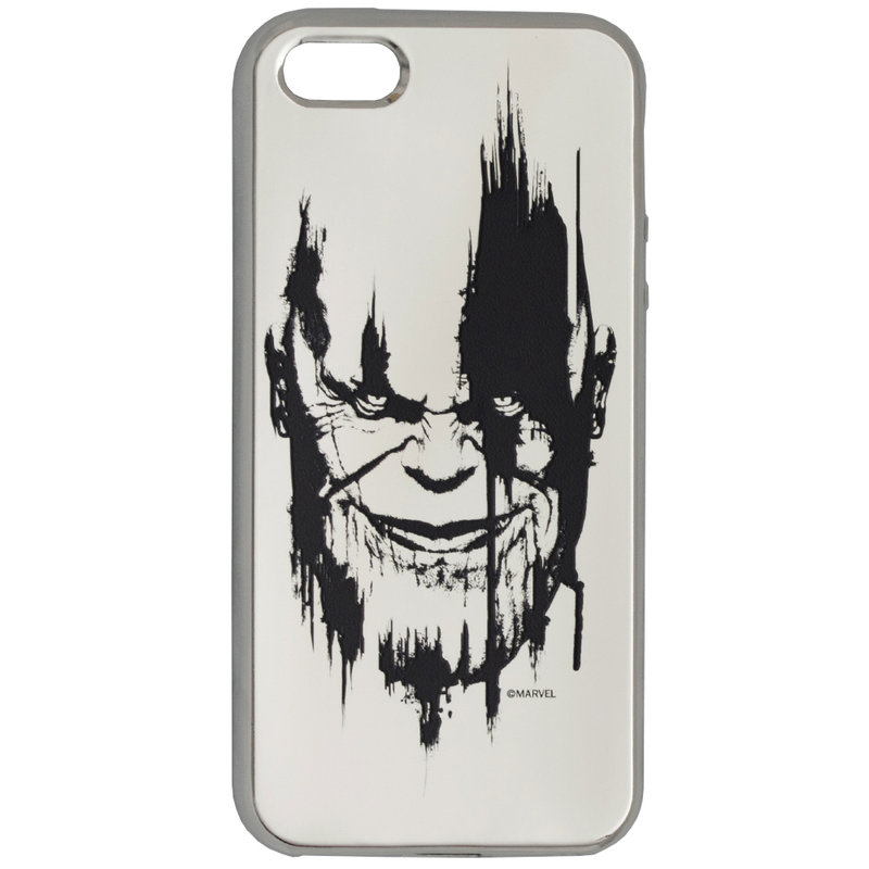 Husa iPhone 5 / 5s / SE Cu Licenta Marvel - Silver Thanos
