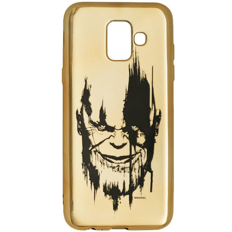 Husa Samsung Galaxy A6 2018 Cu Licenta Marvel - Gold Thanos
