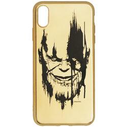 Husa iPhone XS Max Cu Licenta Marvel - Gold Thanos