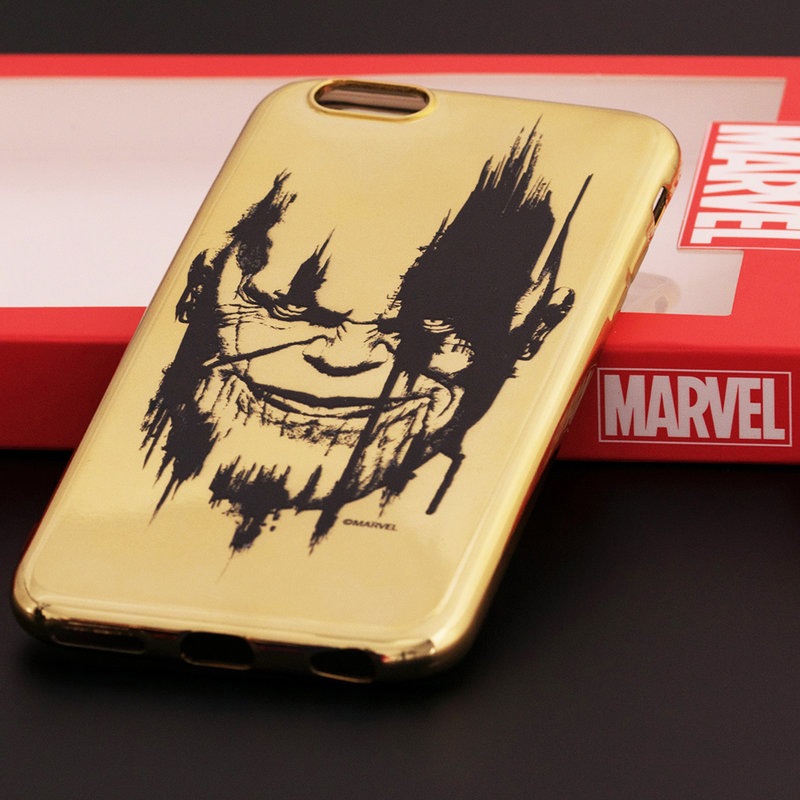 Husa iPhone 6 / 6S Cu Licenta Marvel - Gold Thanos