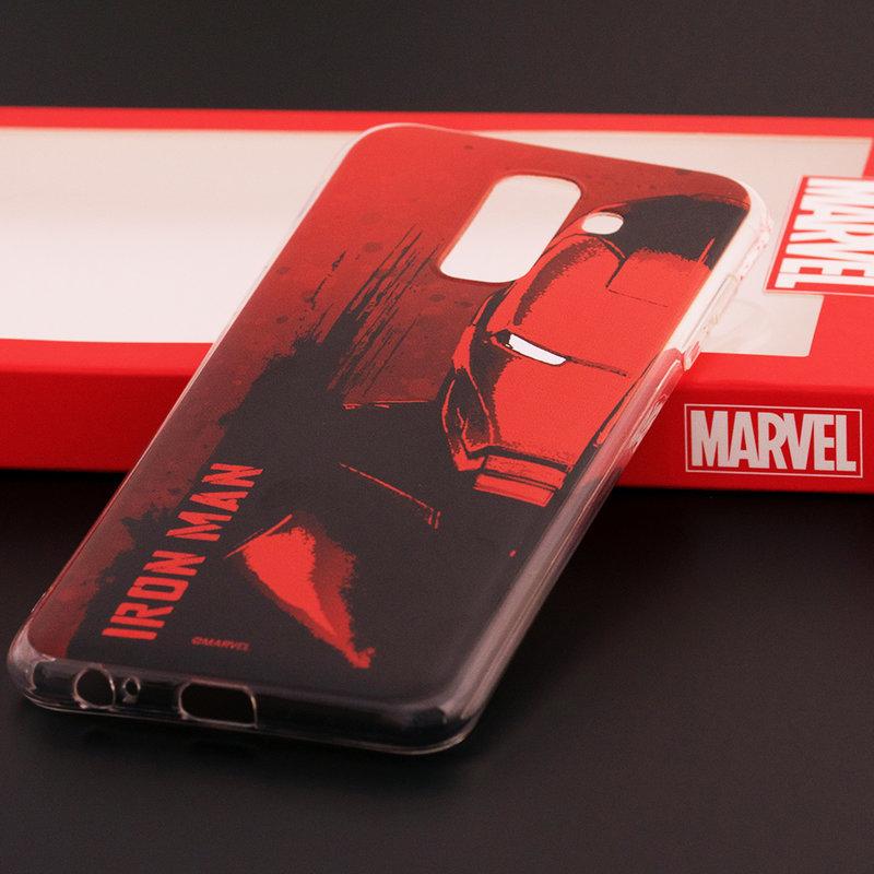 Husa Samsung Galaxy A6 Plus 2018 Cu Licenta Marvel - Ironman