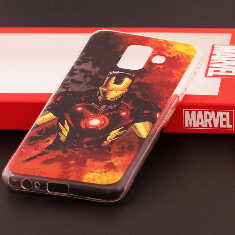 Husa Samsung Galaxy A6 2018 Cu Licenta Marvel - Ironman Classic