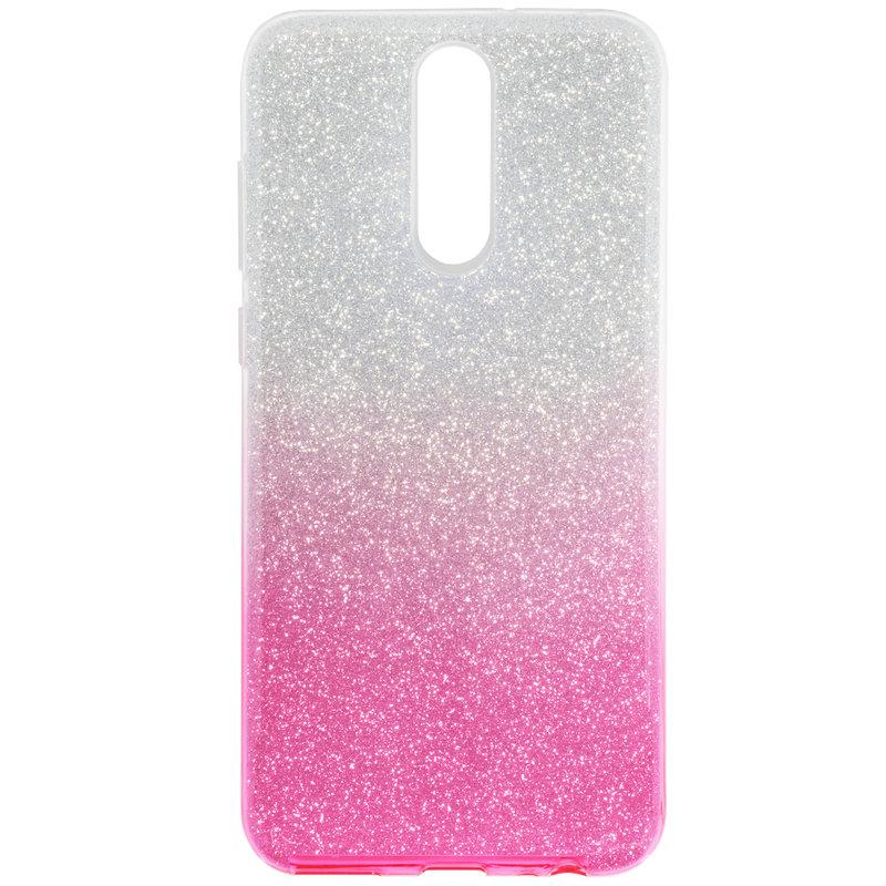 Husa Huawei Mate 10 Lite Gradient Color TPU Sclipici - Roz