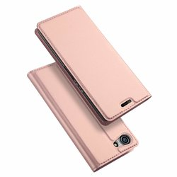 Husa Sony Xperia XZ4 Compact Dux Ducis Flip Stand Book - Roz