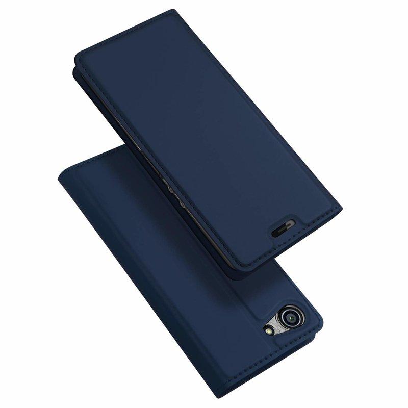 Husa Sony Xperia XZ4 Compact Dux Ducis Flip Stand Book - Albastru