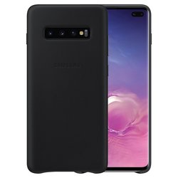 Husa originala Samsung Galaxy S10 Leather Cover - Negru