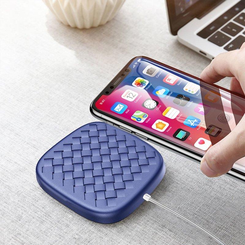 Incarcator Wireless Baseus BV Desktop 10W Pentru Android Si IOS Cu Cablu De 1.2M - Albastru