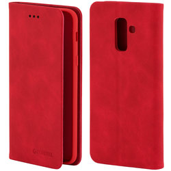 Husa Samsung Galaxy A6 Plus 2018 Forcell Silk Wallet - Red