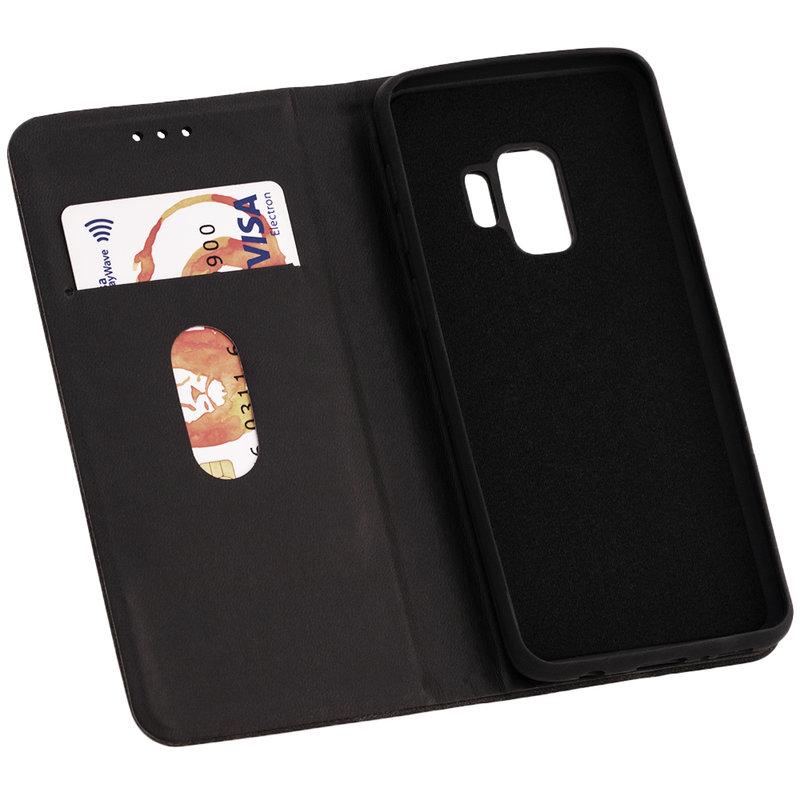 Husa Samsung Galaxy S9 Forcell Silk Wallet - Black