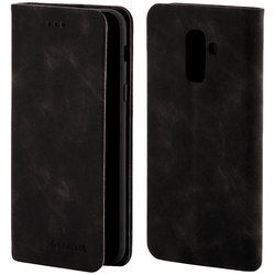 Husa Samsung Galaxy A6 Plus 2018 Forcell Silk Wallet - Black