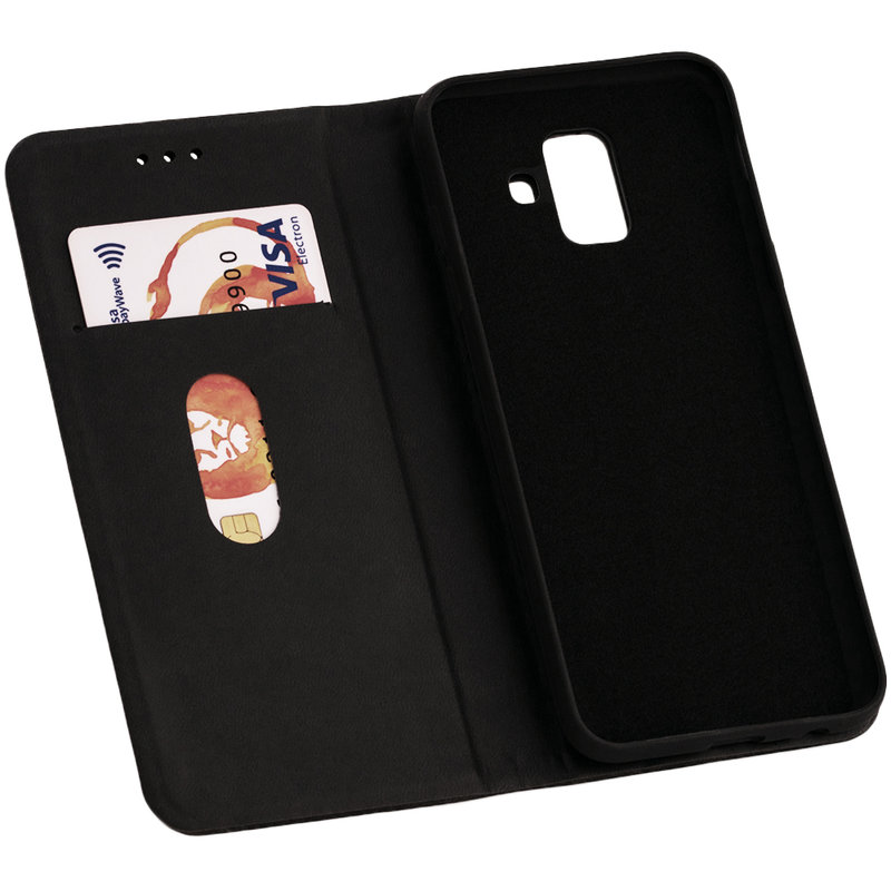 Husa Samsung Galaxy A6 2018 Forcell Silk Wallet - Black
