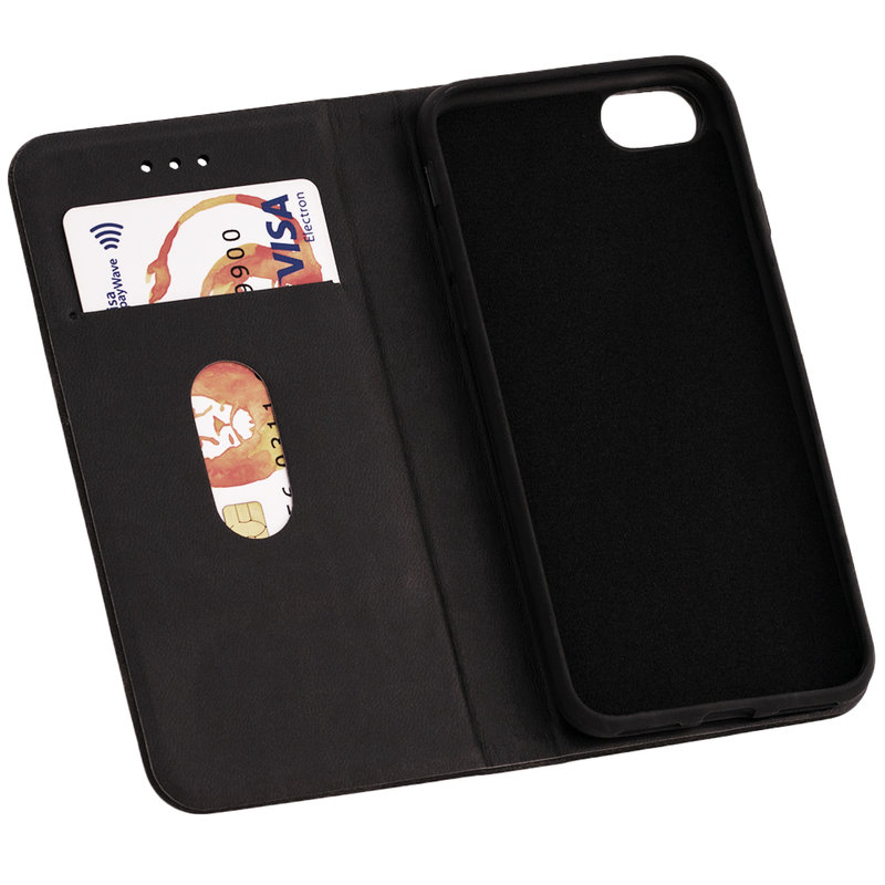 Husa iPhone 7 Forcell Silk Wallet - Black